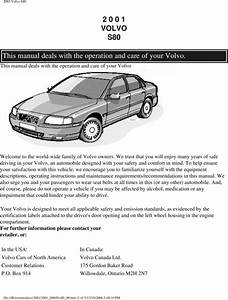 01 Volvo S80 2001 Owners Manual