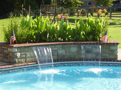 swimming pool features swimming pool water features tn advanced pools inc