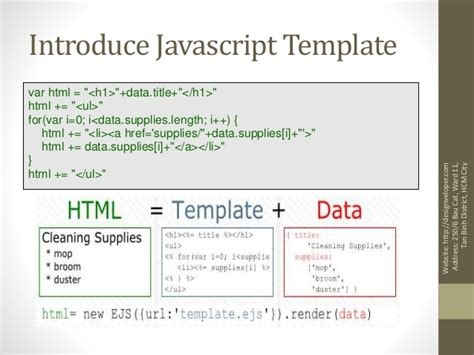 Javascript Template Engines Javascript Template Engine