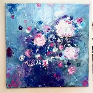 tableau peinture fleurs peinture moderne abstrait tableau acrylique bouquet fleurs