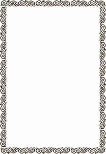 Simple and practical border vector series 2 50p free vector 4vector for Border vectors