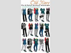 Mix and Match Workout Wear From Old Navy