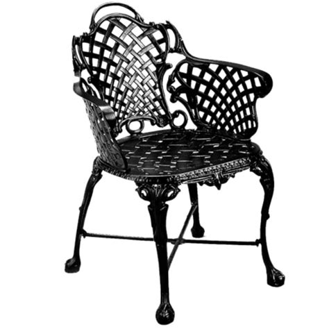three coins basketweave patio arm chair 100