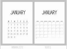 Gratis printselv kalender 2018 Kreavilla