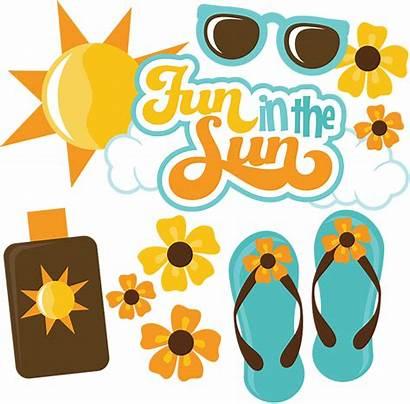 Sun Fun Svg Scrapbook Scrapbooking Printable Summer