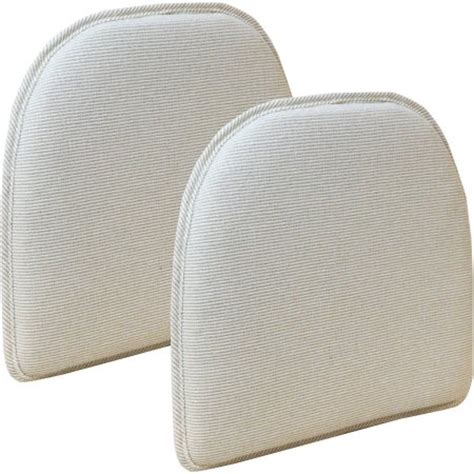 gripper chair pads gray gripper non slip 15 quot x 16 quot venus chair cushions set of 2
