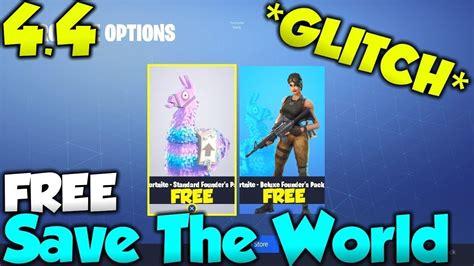 fortnite save  world  glitch  psxboxpcs