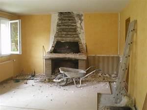 chantier a demolition d39une cheminee et d39un mur porteur With trouer un mur porteur