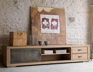 Grand Meuble Tv : grand meuble tv bois solutions pour la d coration int rieure de votre maison ~ Teatrodelosmanantiales.com Idées de Décoration