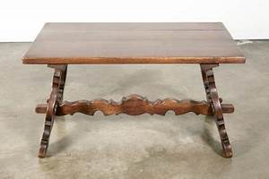 lolo french antiques antique spanish colonial style oak With colonial style coffee table