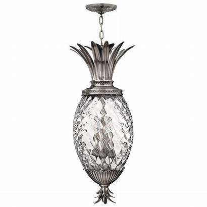 Pineapple Ceiling Pendant Plantation Nickel Antique Hk