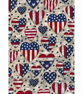 Holiday Inspirations Patriotic Fabric- Patriotic Hearts at
