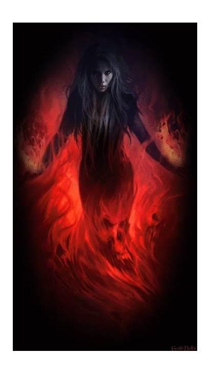 Witch Dark Flames Witches Fantasy Witchcraft Halloween