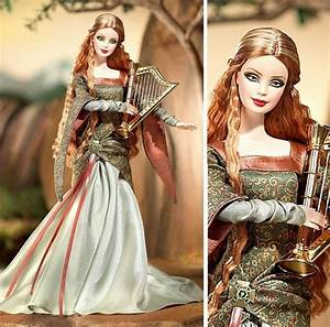 This barbie doll has the most beautiful medieval gown ever ...