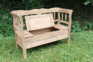 Alte Stühle Aufarbeiten : alte gartenbank aufarbeiten mit stauraum garten ideen ~ Buech-reservation.com Haus und Dekorationen