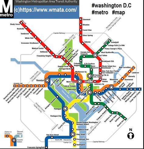 Carte Métro 2018 by Plan Metro Washington Dc Washington Dc Plan Metro