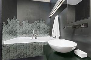 Carrelage Mural Hexagonal : carrelage mural hexagonal a relief 3d design et unique salle de bains a17 vente de carrelage ~ Carolinahurricanesstore.com Idées de Décoration