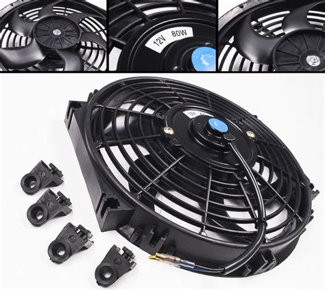 electric radiator fan kit universal 12 quot curved blade electric radiator fan