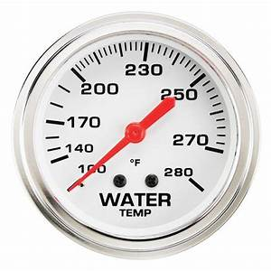 Speedway 2 5  8 Inch Water Temperature Gauge