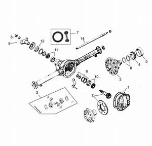 Jeep M38a1 Rear Axle Parts For Dana 44 Tapered Axles From