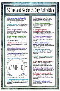Genealogy Worksheets 50 Instant Sabbath Day Activities Card Deseret Book