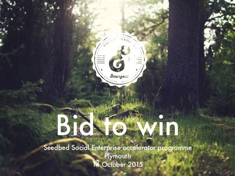 Bid To Win by Bid To Win Workshop For Seedbed October 2015