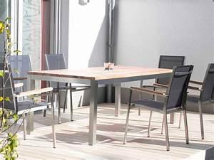 Gartenmöbel Edelstahl Reduziert : gartentisch edelstahl teakholz 230x100 ~ Watch28wear.com Haus und Dekorationen