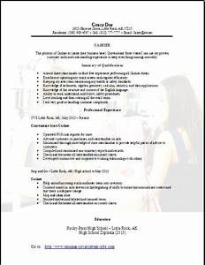 Objectives For Job Resumes Convenience Store Cashier Resume Occupational Examples