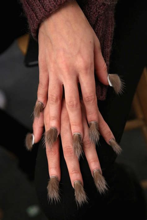 furry nails   hairiest trend   womans vibe