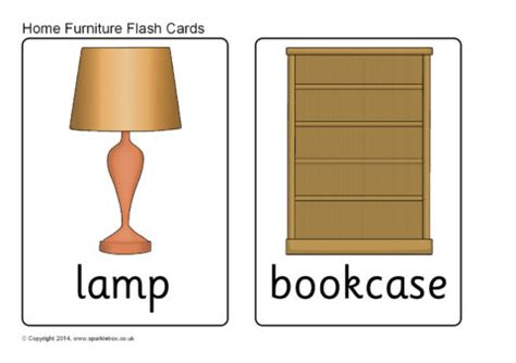 home furniture flash cards sb sparklebox