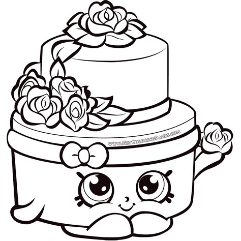 Shopkins Wedding Cake Coloring - Get Coloring Pages