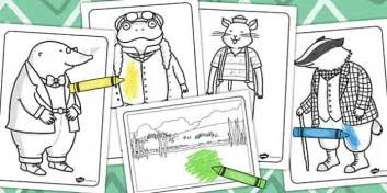 the wind in the willows colouring sheets colour worksheet