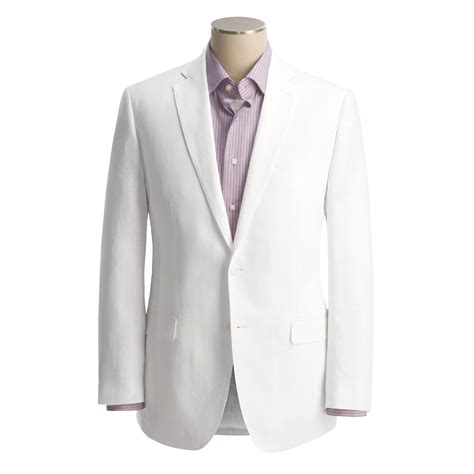 calvin klein white linen suit men save