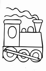 Coloring Train Engine Pages Clipart sketch template