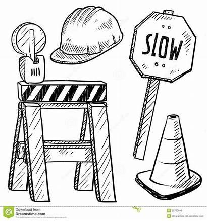 Construction Road Objects Vector Asphalt