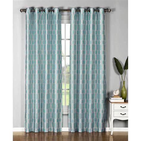 aquamarine drapes window elements semi opaque wesley faux silk 54 in w x 84