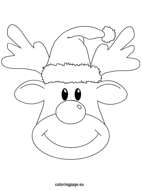 Female Christmas Reindeer Coloring Pages Printable