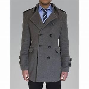 Manteau Homme Mi Long : manteau sur mesure en cachemire gris pour homme col vert ~ Melissatoandfro.com Idées de Décoration