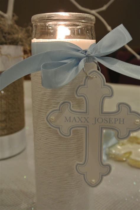 boy baptism centerpieces on pinterest baptism