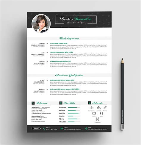 professional resume cv design template  cover