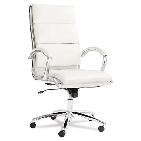 neratoli high back swivel tilt chair white soft touch