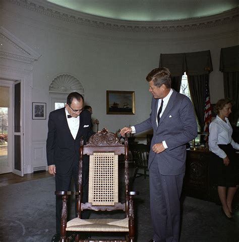 kn c20849 president john f kennedy receives gift of a