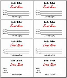 20 free raffle ticket templates with automate ticket With raffel ticket template