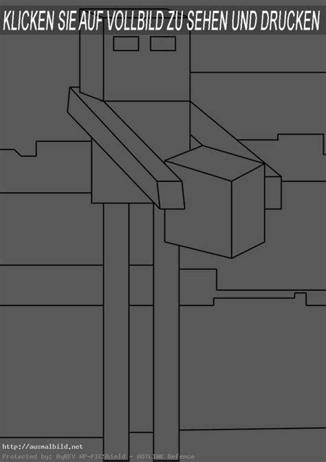 minecraft  ausmalbild