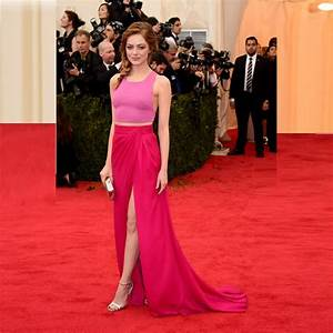 Glamorous Pink Cropped Top Hot Pink Maxi Skirt Emma Stone ...