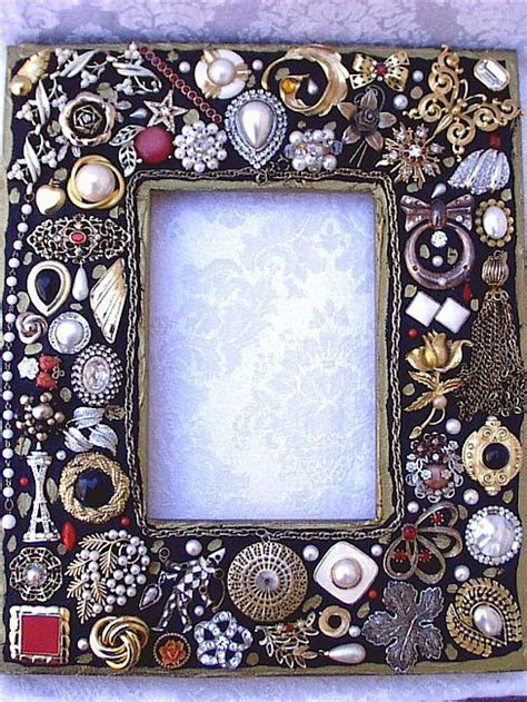pretty picture frames vintage jewelry mosaic photo frame black sold by 1649