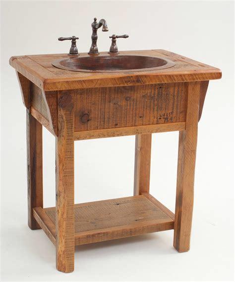 reclaimed wood country farm vanity farmhouse bathroom