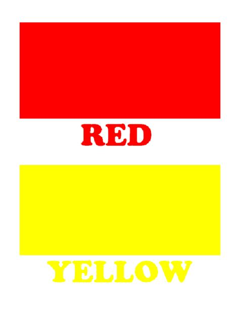 Simple Color Flash Cards