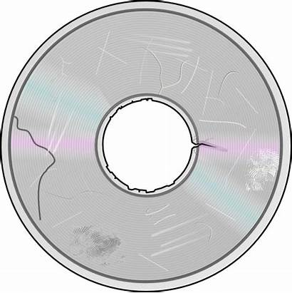 Disc Damaged Clipart Compact Scratched Clip Severely