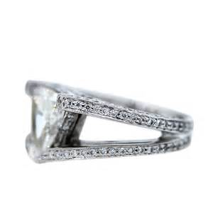 trillion cut engagement rings platinum 2 70 carat trillion cut engagement ring boca raton